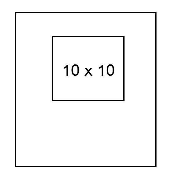 MASCHERINA 10 X10 CM STERILE
